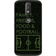 The Racoon football four fs black hard plastic printed back Case for Motorola Moto G Plus 4th Gen