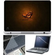 Finearts Laptop Skin Republic Of Gamers With Screen Guard And Key Protector - Size 15.6 Inch