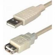 USB kabel 2m, AM - AF, Transmedia C140-2KHL, bež