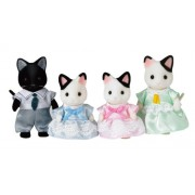"Epoch Sylvanian Sylvanian Families Family Doll ""FS-05 Family of charcoal cat"""