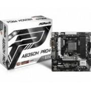 Tarjeta Madre ASRock micro ATX AB350M Pro4, S-AM4, AMD B350, HDMI, USB 3.0, 64GB DDR4, para AMD