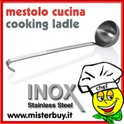 MESTOLO CUCINA ACCIAIO INOX