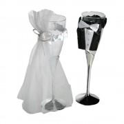 Pahare sampanie de nunta -22cm, Radar 719161, Set 2 buc