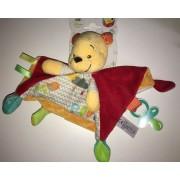 Doudou Ours Winnie Disney Baby Rouge Orange Jaune Pooh Attache Tetine Sucette Peluche Bebe Naissance Ourson Soft Toy Blankie Plush Nicotoy Simba Toys Benelux