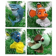 Finding Dory Finding Nemo Christmas Ornament Set - 2 to 3 Plastic Shatterproof Ornaments Perfect for Mini Desk Tree or Kids Tree