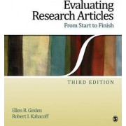 Evaluating Research Articles from Start to Finish by Ellen R. Girden