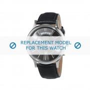 Cerruti (vervangend model) horlogeband Varallo - CRA128SN61BK Leder Zwart 20mm
