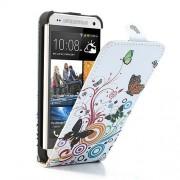 Husa Flip Vertical HTC One Mini M4 Fluturi Si Cercuri