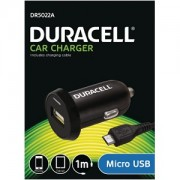 Duracell In Car 2.4A Charger + 1M Micro USB Cable (DR5022A)