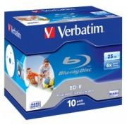 Verbatim BD-R 25GB 6x Printabil, Jewel Case ( 43713), set/10bucati