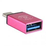 Adaptor USB 3,0 la USB 3,1 Type-C Roz