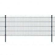 vidaXL Pannello di recinzione 2D giardino con paletti 2008x2230 mm 14m grigio