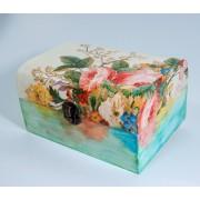 Cufar lemn model floral 7322