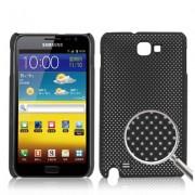 Coque en plastique pour Galaxy Note / i9220 / N7000 - Style Grid Noir