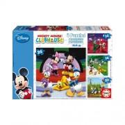 Educa Disney Mickey egér és barátai puzzle, 4 az 1-ben