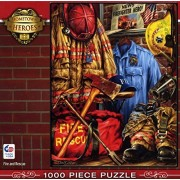 Masterpieces Fire and Rescue Hometown Heroes Jigsaw Puzzle (1000-Piece) by MasterPieces