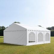 Profizelt24 Partyzelt 5x6m PVC weiß Gartenzelt, Festzelt, Pavillon