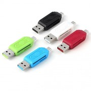Universal Micro USB SD TF Card Reader ( Pack Of 5 Pcs - Colors May Vary ) Micro USB OTG Adapter For Android Mobile Phones Laptop Pc Only From M.P.Enterprises