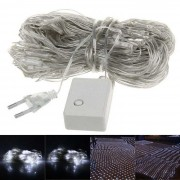 200 LED Christmas Party Wedding Decoration White Net Light Fairy Lights (EU Plug/220V)