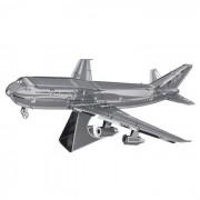 3D rompecabezas del metal Boeing 747 modelo de juguete - plata