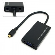 CY HD-105 Active Micro HDMI to VGA Output Projector Monitor Video Adapter - Black