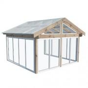 Glädja Komplett uterum Fasadmonterat 42 x 41 (17,0 m²) Förlängd sommar
