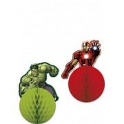 2 Decorações para pendurar Avengers Tamanho único