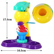Magideal Colorful Plasticine Ice Cream Pretend Toy Creative Game Activity Set