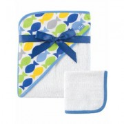 "Hudson Baby """"School of Fish"""" Hooded Towel & Washcloth"