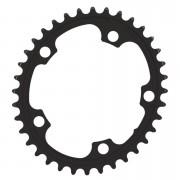 AbsoluteBLACK 110BCD 5 Bolt Spider Mount Oval Chain Ring (Premium) - 38T - Black