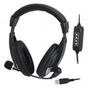 CASTI LOGILINK HS0019 ON-EAR USB BLACK