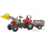 Tractor cu pedale și cupă Rolly Junior, cu remorcă