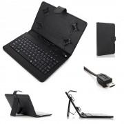 Husa Tableta 7 Inch Cu Tastatura Micro Usb Model X , Negru , Tip Mapa