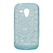 ksc sales New Stone Soft Silicon Back Case Cover For Samsung Galaxy S Duos S7562 / 7582 (Sky)