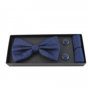 Accesorii barbati, model albastru inchis cu dungi negre