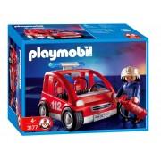 Playmobil 3177 - Capitaine Des Pompiers Et Véhicule