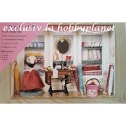 Kit vitrina diorama pentru asamblare - atelier de moda
