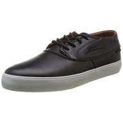 Lakai Camby Mid Dqm - Zapatillas de skateboarding de cuero para hombre negro Noir (Black/Brown Leather)