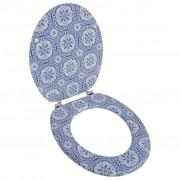 Toiletbril van MDF met porselein dessin