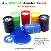 12 Piece Barrel~O~Slime 5 Oz Barrels 3 Inches Tall Assorted Colors, Toy:BOS-12