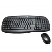 Set tastatura si mouse wireless Genius KB-8000X, USB, Negru