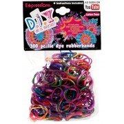 Expressions Girl / D.I.Y. 300-piece Tie Dye Latex-free Rubber Band Bracelet Loom Refill Pack