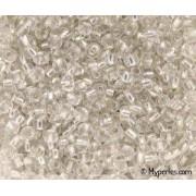 Perles de Rocaille 3mm couleur transparent trou argenté (x 20g)