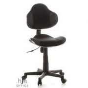 Hjh Sedia ergonomica per bambini KIDDY JUNIOR, omologata 4h uso, 7-12 anni, grigio e nero