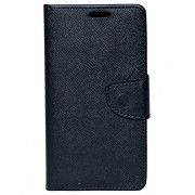 Zocardo Fancy Diary Wallet Flip Case Cover for Lava A73 -Black with Magnetic Flap and foldable stand