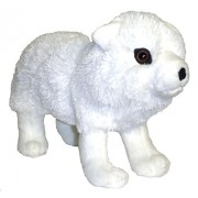 "12"" Frosty the Arctic White Wolf Plush Stuffed Animal Toy"