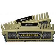 Corsair CMZ8GX3M2A1600C9G Vengeance Memoria per Desktop a Elevate Prestazioni da 8 GB (2x4 GB), DDR3, 1600 MHz, CL9, Oro