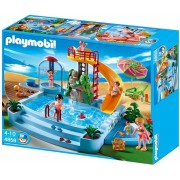 Playmobil - 4858 - Jeu De Construction - Piscine Avec Toboggan