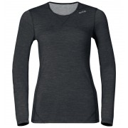 Odlo Revolution TW Warm Shirt L/S Crew Neck Women black melange XS Langarm Shirts