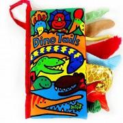 Malloom® colas animales libro de tela bebé de juguete Desarrollo Libros Aprendizaje y Educación libros (dino tails)